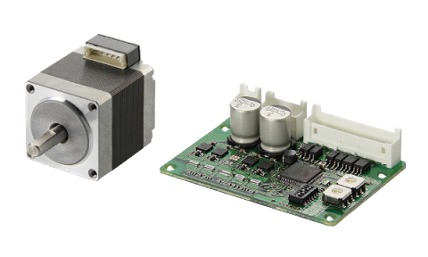 Stepper motors with controller on 24/48 VDC